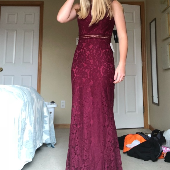 Dresses Maroon Lace Prom Dress Poshmark